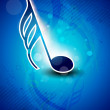 Abstract musical note on blue background. EPS 10. — Stock vektor