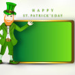 St.. Patrick's Day banner with  happy Leprechaun. EPS 10. — Stock Vector