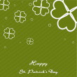 Irish four leaf lucky clovers vintage background for Happy St. P — Stock Vector
