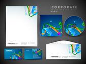 Identidad corporativa profesional kit o kit de negocio para el autobús — Vector de stock