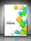 Modello flyer aziendale professionale o aziendale banner design — Vettoriale Stock