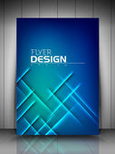 Professional business flyer template or corporate banner design — Stock Vector