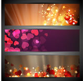 Love website header or banner set with small hearts background. — Stock Vector