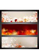 Love website header or banner set with small hearts. EPS 10. — Stock Vector