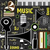 Retro Music background, can be used as flyer or banner for dance — Stock Vector