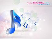 Abstratas notas musicais na. eps 10. — Vetor de Stock