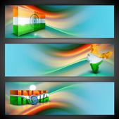 India Nation Flag creative design in website headers or banners — Stock Vector