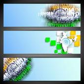 创意文字印度和地图设计、 网站标题或横幅 — 图库矢量图片