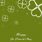 Quatre irlandais feuille fond vintage trèfle chanceux pour st. heureux p — Vecteur