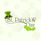 St. Patrick's Day greeting card or background with Leprechaun ha — Stock Vector
