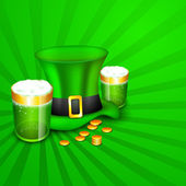 Saint Patrick's Day background or greeting card with Leprechaun — Stock vektor