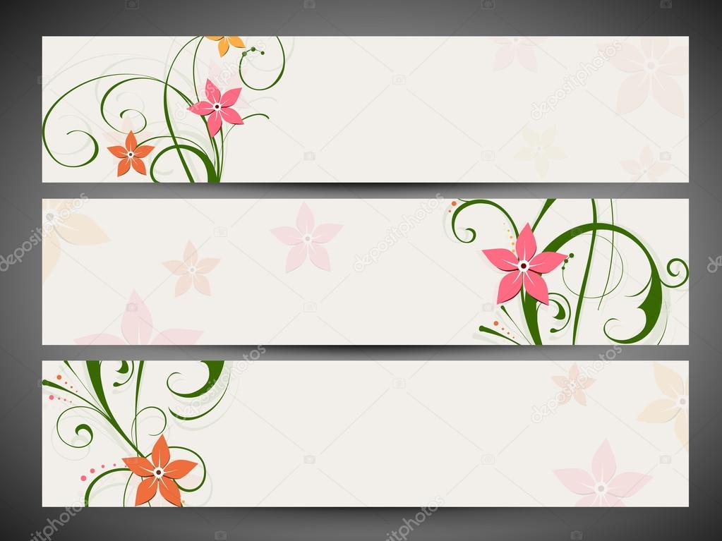 Encabezado de p gina web decoraci n floral y banner set for Paginas web decoracion