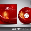 Music CD Cover design. EPS 10. - Image vectorielle