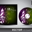 Music CD Cover design. EPS 10. — Vettoriali Stock