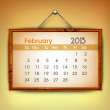 February month calender 2013. EPS 10. - Stockvectorbeeld