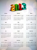 2013 year calender. EPS 10. — Stock Vector