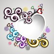 Happy Valentines Day background, gift car or greeting card with  — Векторная иллюстрация