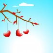 Beautiful St. Valentine's Day background, gift or greeting card  — 图库矢量图片