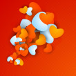 Beautiful Valentine's Day background, gift or greeting card with — 图库矢量图片