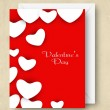 Valentines Day background, greeting card or gift card. — Grafika wektorowa