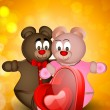 Happy Valentines Day background,, gift card or greeting card wit — 图库矢量图片