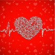 Valentines Day background, greeting card or gift card. — 图库矢量图片