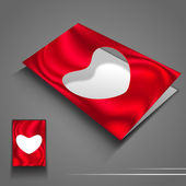 Saint Valentines Day flyer or banner with blank paper heart. EPS — Stock Vector