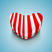 Beautiful St. Valentine's Day background with heart shape gift b — Stockvector