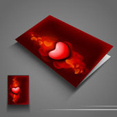 Saint Valentines Day flyer or banner with red hearts. EPS 10. — Vector de stock