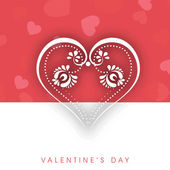 Valentines Day background, greeting card or gift card — Stock Vector