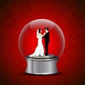 バレンタインデーの背景、グリーティング カードやギフトカード — ストックベクタ
