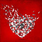 šťastný valentines den pozadí, pozdrav card nebo dárkový poukaz, lov — Stock vektor