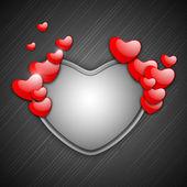 De dag van valentijnskaarten achtergrond, wenskaart of geschenkenkaart — Stockvector