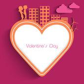 Beau fond de Saint-Valentin, cadeau ou carte de voeux — Vecteur