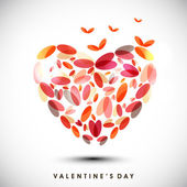 Happy Valentine's Day background with colorful heart made by pet — Stockvector