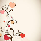 Floral decorated Valentine's Day background. EPS 10. — Vecteur