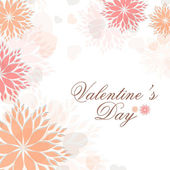 Floral decorated Valentine's Day background. EPS 10. — Stock Vector