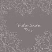 Floral decorated Valentine's Day background. EPS 10. — Stok Vektör