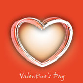 Glad alla hjärtans dag bakgrund, gratulationskort eller gåva kort wit — Stockvektor