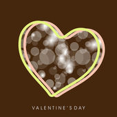 Happy Valentine's Day background, greeting card or gift card wit — Stock Vector