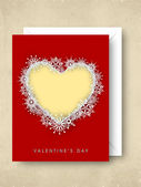 Valentines Day background, greeting card or gift card. — Stock Vector