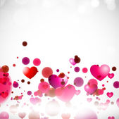 Happy Valentine's Day background with glossy pink hearts. EPS 10 — Vector de stock