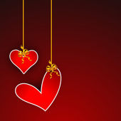 Valentines Day background, greeting card or gift card. — Stockvektor