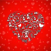 De dag van valentijnskaarten achtergrond, wenskaart of geschenkenkaart. — Stockvector