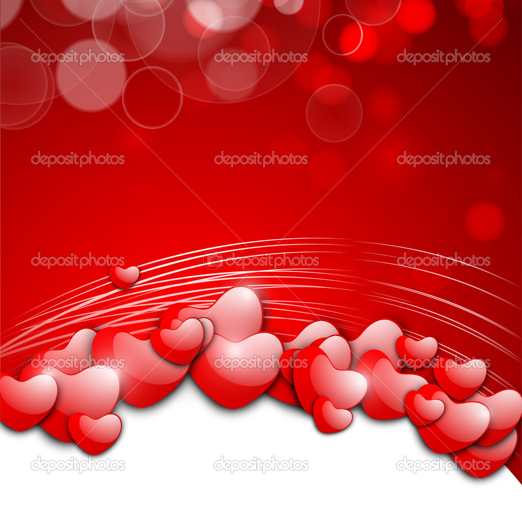 Valentines Day background, greeting card or gift card. — Stockvectorbeeld #19657799