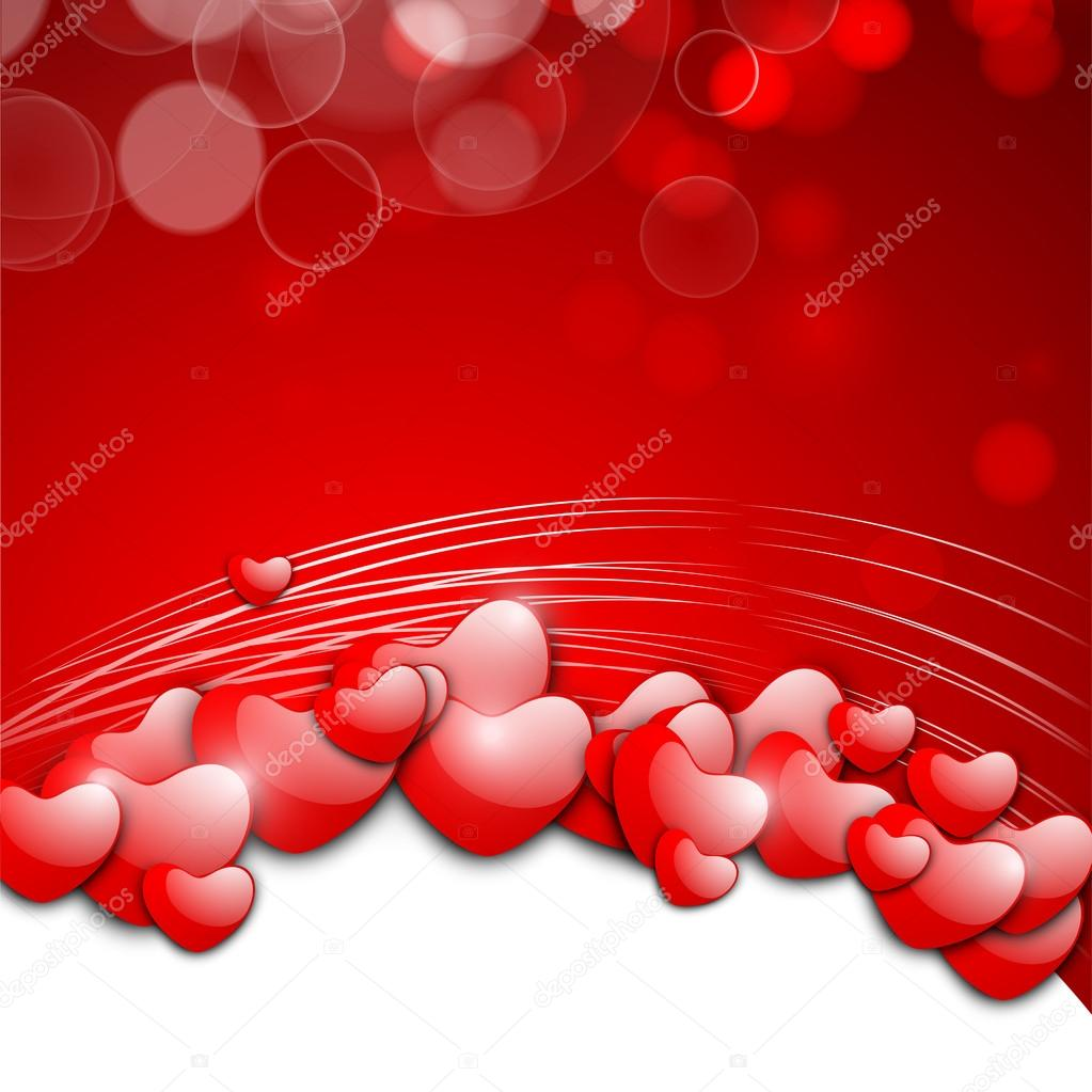 Valentines Day background, greeting card or gift card. — Vektorgrafik #19657799