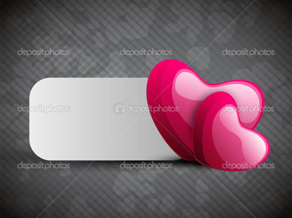 Valentines Day background, greeting card or gift card.  Stock Vector #19657843