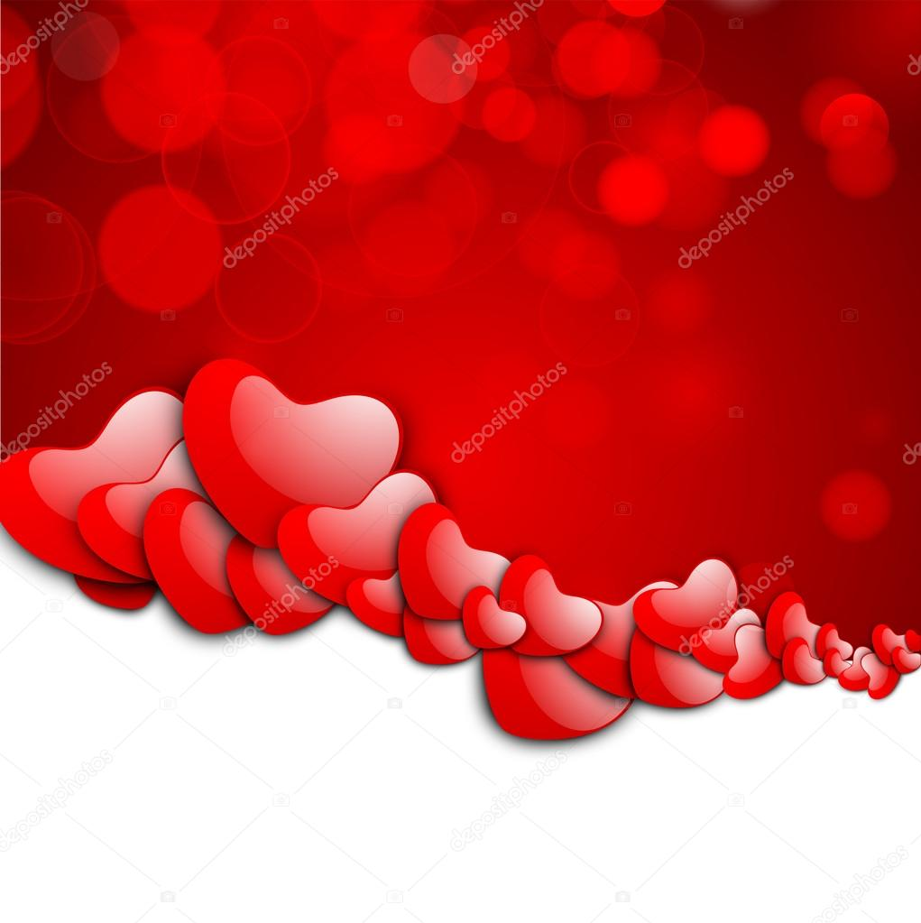 Valentines Day background, greeting card or gift card . — Stock Vector #19657953