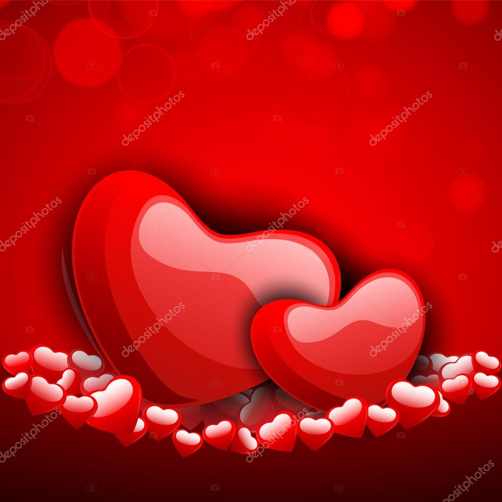 Valentines Day background, greeting card or gift card . — Stockvectorbeeld #19657957