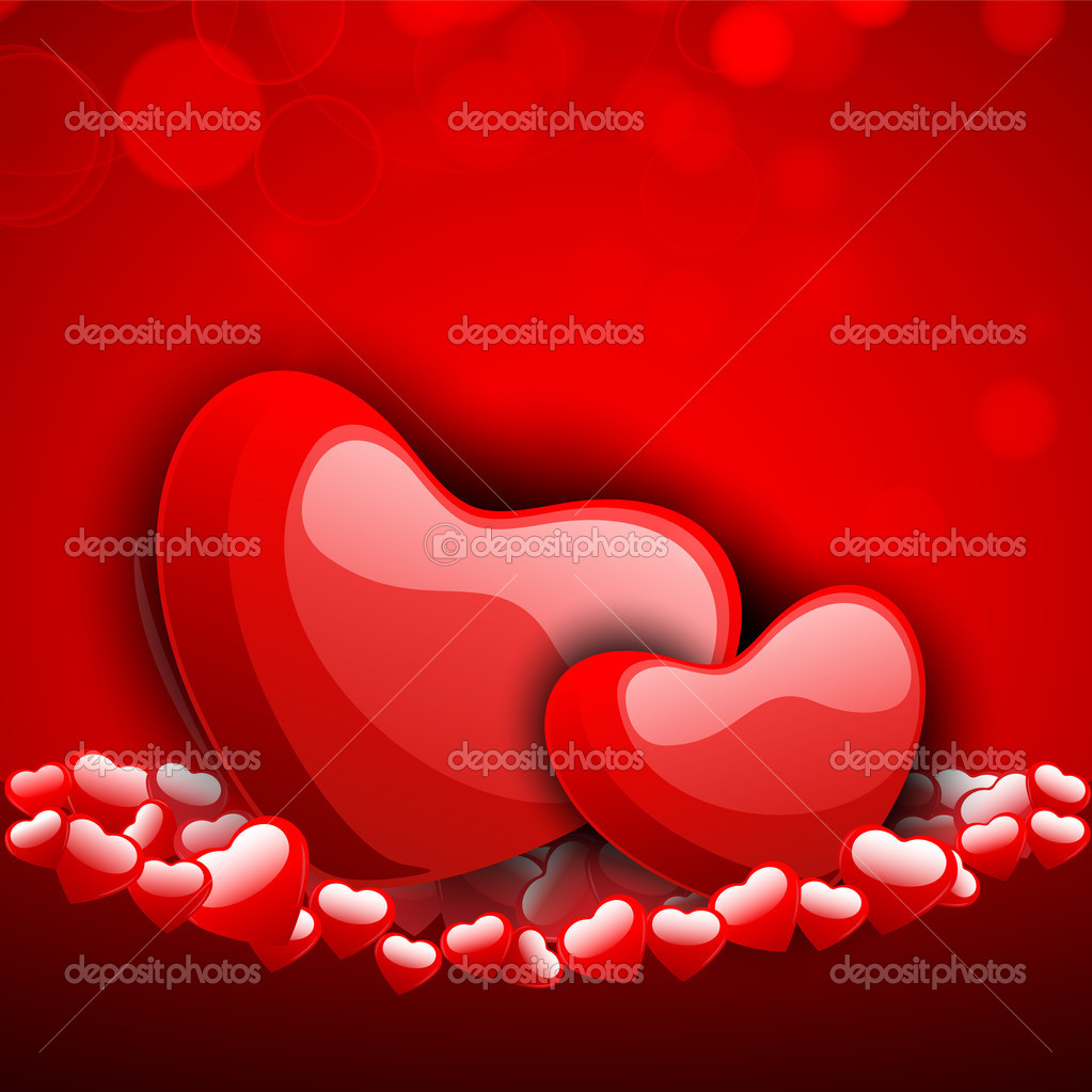 Valentines Day background, greeting card or gift card . — Imagens vectoriais em stock #19657957